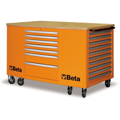 Beta Tools 28 Drawer Mobile Workstation C31-Work Station-Beta-Tools-Orange C31-Torque Toolboxes