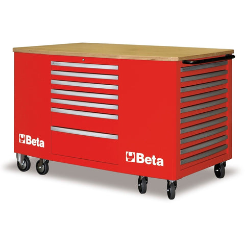 Beta Tools 28 Drawer Mobile Workstation C31-Work Station-Beta-Tools-Red C31-Torque Toolboxes