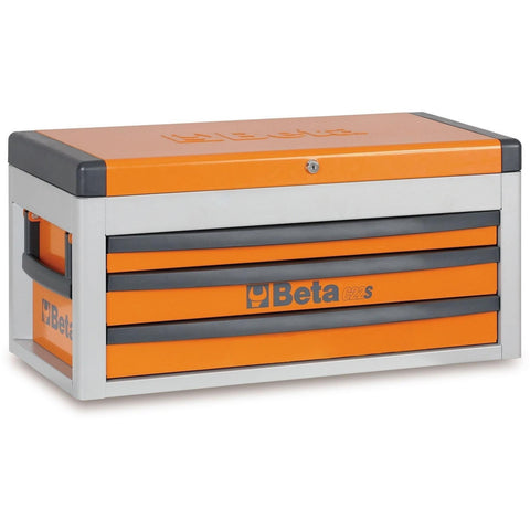 Beta Tools - 3-Drawer, Tool Chest - C22S-Tool Chest-Beta Tools-Orange-Torque Toolboxes