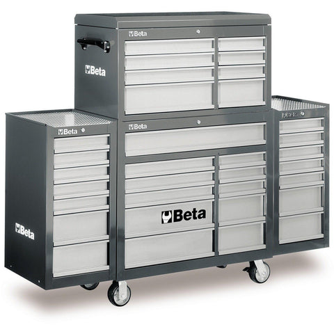 Beta Tools - 33-Drawer Roller Cabinet - C38C-Roller Cabinet-Beta Tools-Grey-Torque Toolboxes