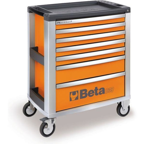 Beta Tools 3900 O-7/VU2M Roller Cabinet C39/7 + 152PCS-Roller Cabinet-Beta-Tools-Orange C39/7 + 152PCS-Torque Toolboxes