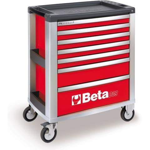 Beta Tools 3900 O-7/VU2M Roller Cabinet C39/7 + 152PCS-Roller Cabinet-Beta-Tools-Red C39/7 + 152PCS-Torque Toolboxes