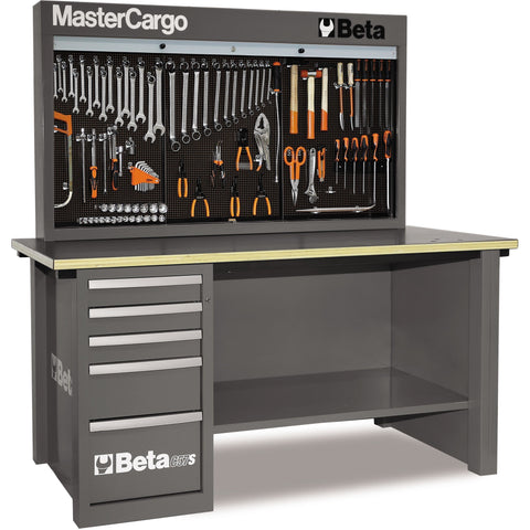 Beta Tools 5700 A/VG MasterCargo Workbench C57S A + 189 PCS-Workbench-Beta-Tools-Grey C57S A + 189 PCS-Torque Toolboxes