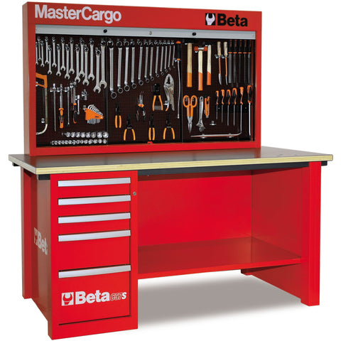 Beta Tools 5700 A/VG MasterCargo Workbench C57S A + 189 PCS-Workbench-Beta-Tools-Red C57S A + 189 PCS-Torque Toolboxes