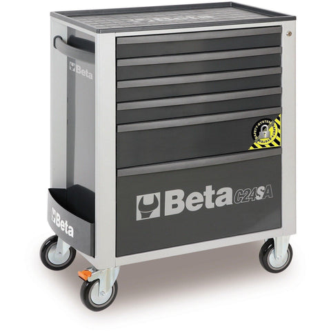 Beta Tools - 6-Drawer, Anti-Tilt, Roller Cabinet - C24SA/6-Roller Cabinet-Beta Tools-Grey-Torque Toolboxes