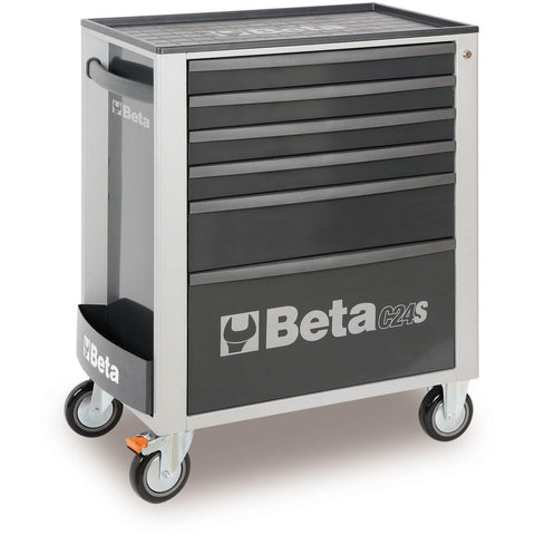 Beta Tools - 6-Drawer, Roller Cabinet - C24S/6-Roller Cabinet-Beta Tools-Grey-Torque Toolboxes