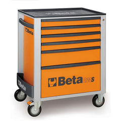Beta Tools - 6-Drawer, Roller Cabinet - C24S/6-Roller Cabinet-Beta Tools-Orange-Torque Toolboxes
