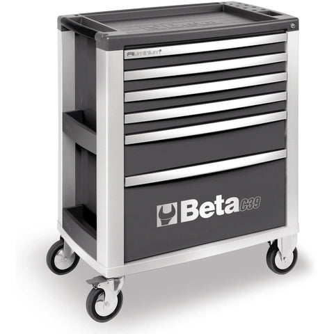 Beta Tools - 6-Drawer, Roller Cabinet - C39-6-Roller Cabinet-Beta Tools-Grey-Torque Toolboxes