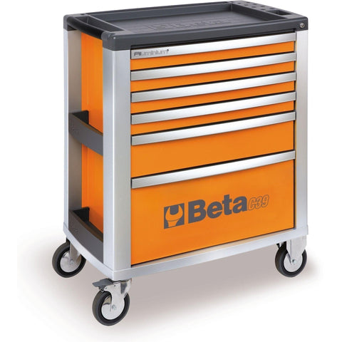 Beta Tools - 6-Drawer, Roller Cabinet - C39-6-Roller Cabinet-Beta Tools-Orange-Torque Toolboxes