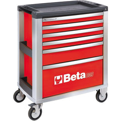 Beta Tools - 6-Drawer, Roller Cabinet - C39-6-Roller Cabinet-Beta Tools-Red-Torque Toolboxes