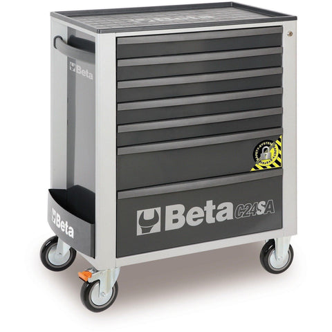 Beta Tools - 7-Drawer, Anti-Tilt, Roller Cabinet - C24SA/7-Roller Cabinet-Beta Tools-Grey-Torque Toolboxes