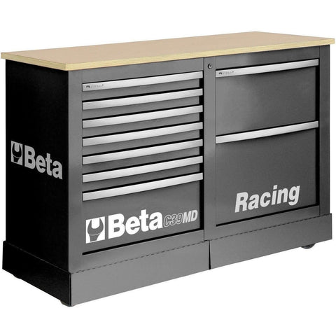 Beta Tools - 7-Drawer Racing Mechanic Professional Cart - C39MD-Roller Cabinet-Beta Tools-Grey-Torque Toolboxes