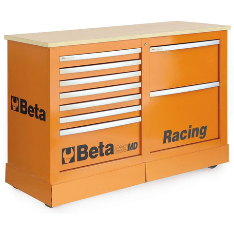 Beta Tools - 7-Drawer Racing Mechanic Professional Cart - C39MD-Roller Cabinet-Beta Tools-Orange-Torque Toolboxes