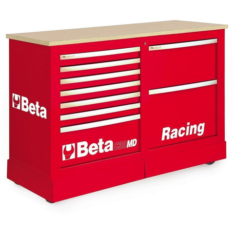 Beta Tools - 7-Drawer Racing Mechanic Professional Cart - C39MD-Roller Cabinet-Beta Tools-Red-Torque Toolboxes