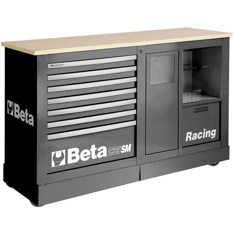 Beta Tools - 7-Drawer Racing Mechanic Professional Cart- C39SM-Roller Cabinet-Beta Tools-Grey-Torque Toolboxes