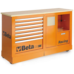 Beta Tools - 7-Drawer Racing Mechanic Professional Cart- C39SM-Roller Cabinet-Beta Tools-Orange-Torque Toolboxes