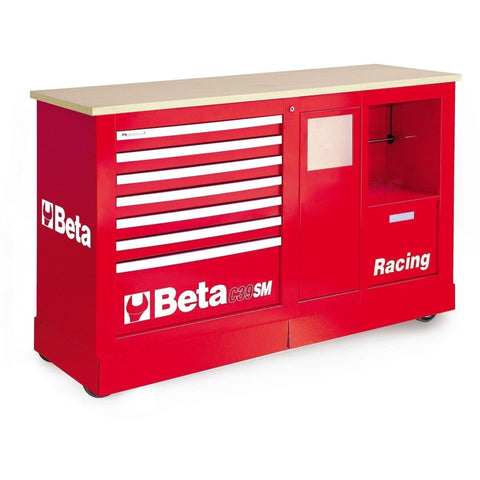 Beta Tools - 7-Drawer Racing Mechanic Professional Cart- C39SM-Roller Cabinet-Beta Tools-Red-Torque Toolboxes