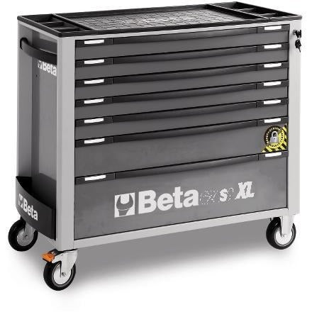 Beta Tools 7 Drawer Roller Cabinet 2400 SAXL7-O/VI3T C24SA-XL/7 + 142 PCs-Roller Cabinet-Beta-Tools-Grey C24SA-XL/7 + 142 PCs-Torque Toolboxes