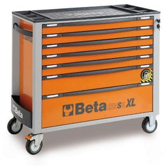 Beta Tools 7 Drawer Roller Cabinet 2400 SAXL7-O/VI3T C24SA-XL/7 + 142 PCs-Roller Cabinet-Beta-Tools-Orange C24SA-XL/7 + 142 PCs-Torque Toolboxes