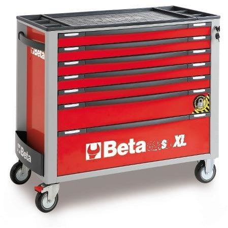 Beta Tools 7 Drawer Roller Cabinet 2400 SAXL7-O/VI3T C24SA-XL/7 + 142 PCs-Roller Cabinet-Beta-Tools-Red C24SA-XL/7 + 142 PCs-Torque Toolboxes