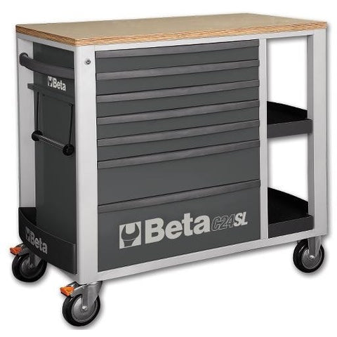 Beta Tools 7 Drawer Roller Cabinet 2400 SL-O/VI2T C24SL + 151 PCs-Roller Cabinet-Beta-Tools-Grey C24SL + 151PCS-Torque Toolboxes