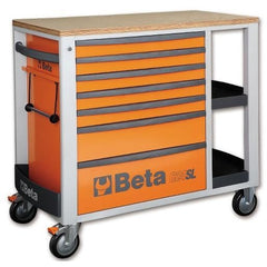 Beta Tools 7 Drawer Roller Cabinet 2400 SL-O/VI2T C24SL + 151 PCs-Roller Cabinet-Beta-Tools-Orange C24SL + 151PCS-Torque Toolboxes
