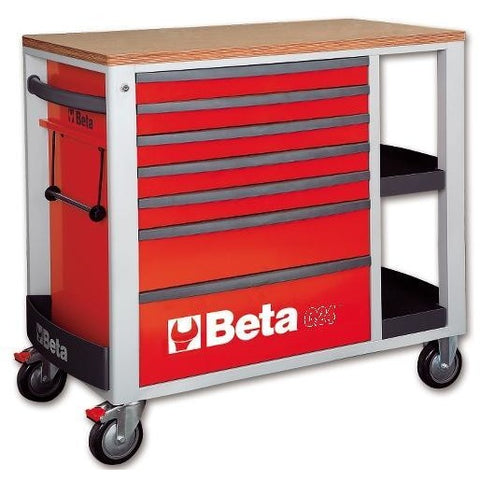 Beta Tools 7 Drawer Roller Cabinet 2400 SL-O/VI2T C24SL + 151 PCs-Roller Cabinet-Beta-Tools-Red C24SL + 151PCS-Torque Toolboxes