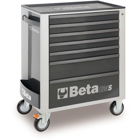 Beta Tools - 7-Drawer, Roller Cabinet - C24S/7-Roller Cabinet-Beta Tools-Grey-Torque Toolboxes