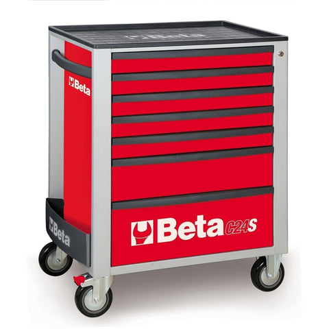 Beta Tools - 7-Drawer, Roller Cabinet - C24S/7-Roller Cabinet-Beta Tools-Red-Torque Toolboxes