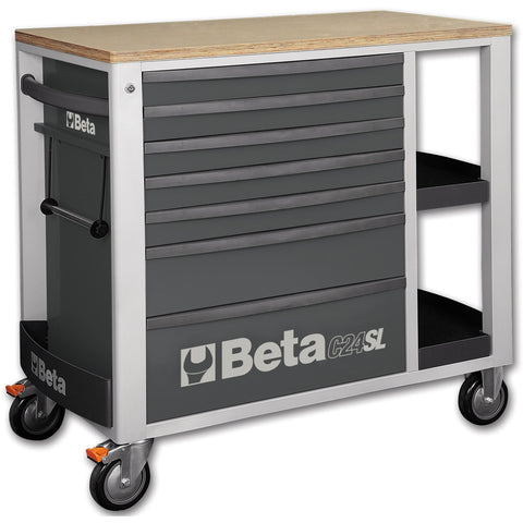Beta Tools - 7-Drawer, Roller Cabinet - C24SL-Roller Cabinet-Beta Tools-Grey-Torque Toolboxes