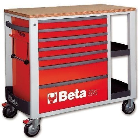 Beta Tools - 7-Drawer, Roller Cabinet - C24SL-Roller Cabinet-Beta Tools-Red-Torque Toolboxes