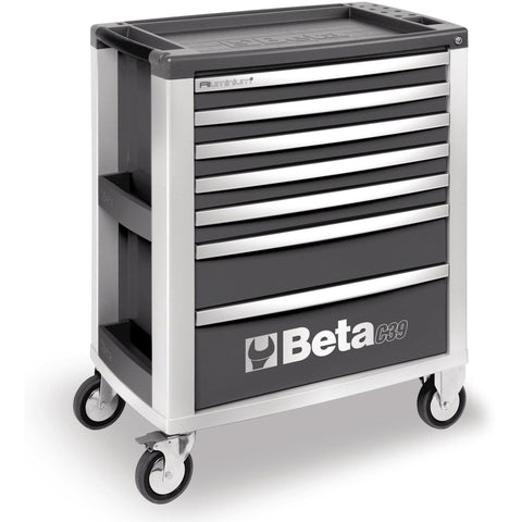 Beta Tools - 7-Drawer, Roller Cabinet - C39-7-Roller Cabinet-Beta Tools-Grey-Torque Toolboxes