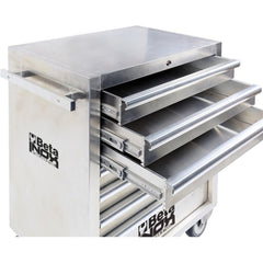 Beta Tools - 7-Drawer, Roller Cabinet, Stainless Steel - C04TSS-7