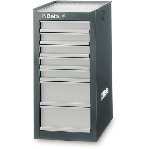 Beta Tools - 7-Drawer, Tool Cabinet, Side Cab - C38L-Tool Cabinet-Beta Tools-Grey-Torque Toolboxes