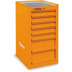 Beta Tools - 7-Drawer, Tool Cabinet, Side Cab - C38L-Tool Cabinet-Beta Tools-Orange-Torque Toolboxes