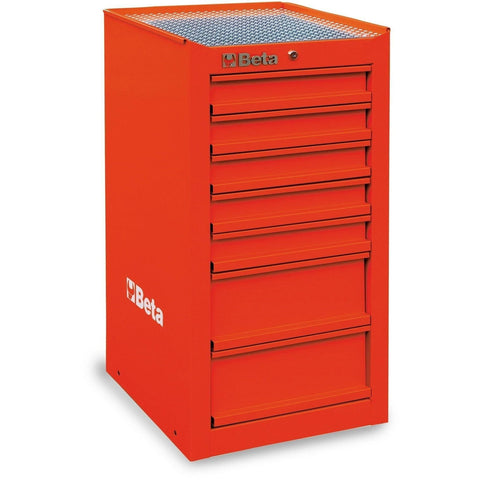 Beta Tools - 7-Drawer, Tool Cabinet, Side Cab - C38L-Tool Cabinet-Beta Tools-Red-Torque Toolboxes