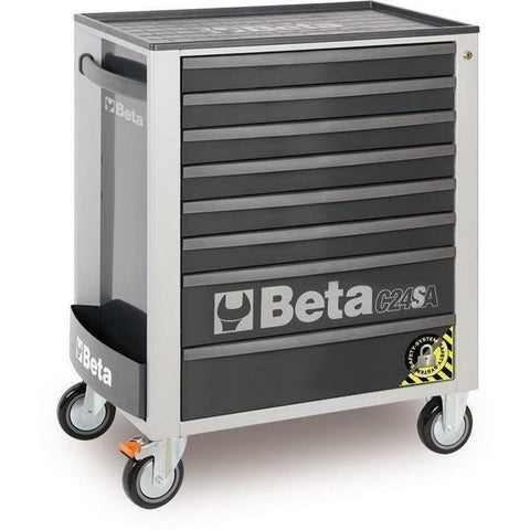Beta Tools - 8-Drawer, Anti-Tilt, Roller Cabinet - C24SA/8-Roller Cabinet-Beta Tools-Grey-Torque Toolboxes