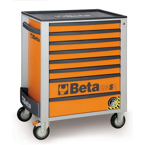 Beta Tools - 8-Drawer, Anti-Tilt, Roller Cabinet - C24SA/8-Roller Cabinet-Beta Tools-Orange-Torque Toolboxes