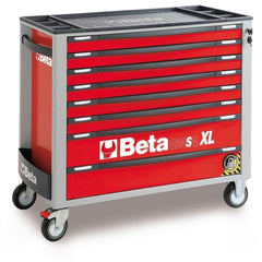 Beta Tools - 8-Drawer, Anti-Tilt, Roller Cabinet, Long - C24SA-XL/8-Roller Cabinet-Beta Tools-Red-Torque Toolboxes