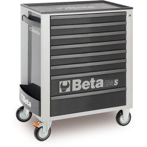 Beta Tools - 8-Drawer, Roller Cabinet - C24S/8-Roller Cabinet-Beta Tools-Grey-Torque Toolboxes