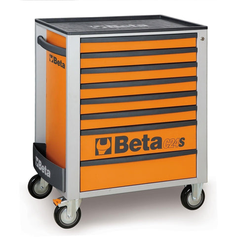 Beta Tools - 8-Drawer, Roller Cabinet - C24S/8-Roller Cabinet-Beta Tools-Orange-Torque Toolboxes
