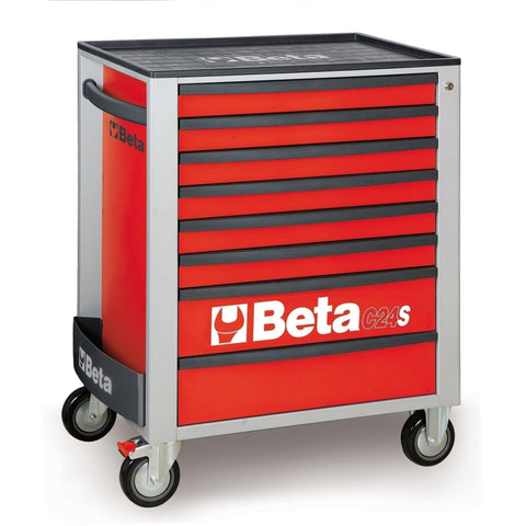 Beta Tools - 8-Drawer, Roller Cabinet - C24S/8-Roller Cabinet-Beta Tools-Red-Torque Toolboxes