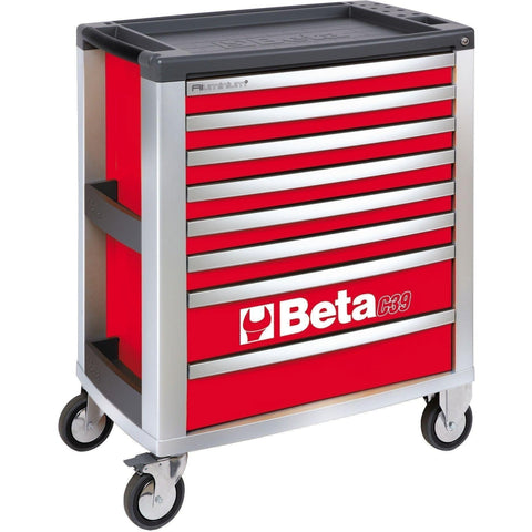 Beta Tools - 8-Drawer, Roller Cabinet - C39-8-Roller Cabinet-Beta Tools-Red-Torque Toolboxes