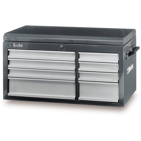 Beta Tools - 8-Drawer, Tool Chest - C38T-Tool Chest-Beta Tools-Grey-Torque Toolboxes