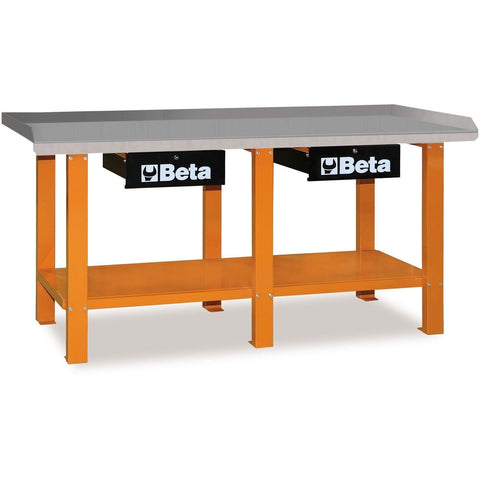 Beta Tools - All Steel Top, Workbench - C56-Workbench-Beta Tools-Orange-Torque Toolboxes