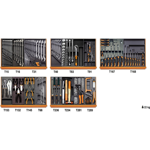 Beta Tools Assortment of 153 Tools in Thermoformed Tray 5904VI/2T-Tools-Beta-Tools-Torque Toolboxes