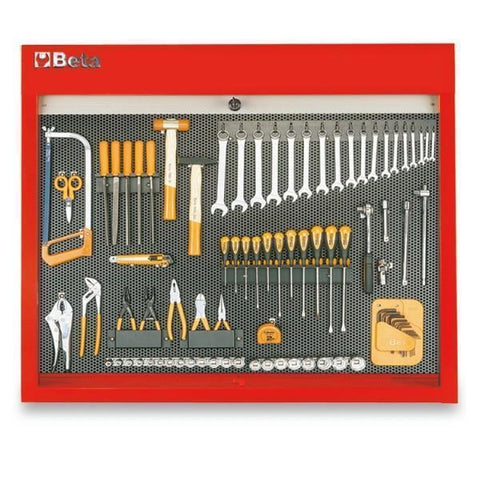 Beta Tools - BasicPlus™ - Tool Panel - C58P-Tool Panel-Beta Tools-Red-Torque Toolboxes