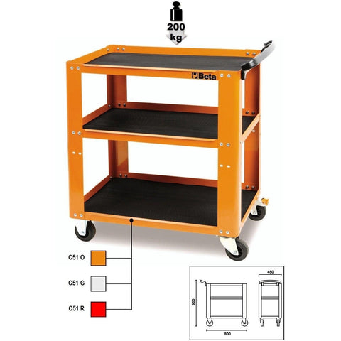 Beta Tools Easy Tool Trolley C51-Tool Trolley-Beta-Tools-Torque Toolboxes