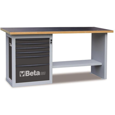 Beta Tools - Endurance™ - 6-Drawer, Workbench - C59A-Workbench-Beta Tools-Grey-Torque Toolboxes