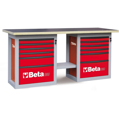 Beta Tools - Endurance™ - 6-Drawer, WorkBench - C59B-Workbench-Beta Tools-Red-Torque Toolboxes
